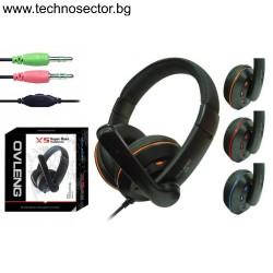 Геймърски слушалки Ovleng X-5 за компютър с микрофон