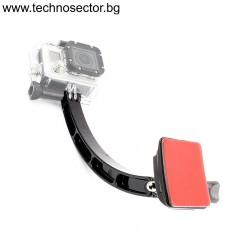Селфи стойка GoPlus за монтиране върху каска, шлем и други, 21 см., 45 гр., 4 части - Топ цена от Technosector.bg