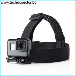 Универсална стойка за глава GoPlus, съвместима с всички модели екшън камери