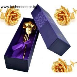 Златна роза SIAPRO, 24 К, 24 см, Цвят Златист