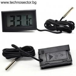 Дигитален термометър AWSD-10, за дома или колата, с външна сонда