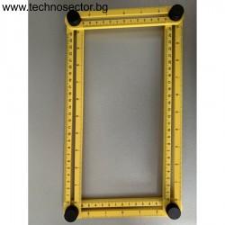 Регулируема линия за измерване - Регулируем ъгъл, чертожен инструмент, инструмент за чертане