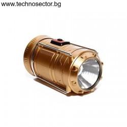Къмпинг Фенер и Прожектор 2 в 1, модел YF-5200, с 3 батерии АА, LED лампа 1 W
