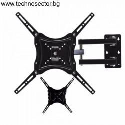 """Универсална стойка за Телевизор TECHNOSECTOR, за стена, с 2 рамена, от 14"""" до 55"""", max 50кг."""