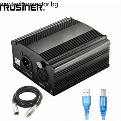 Фантомно захранване за кондензаторен микрофон / Phantom Power Supply 48V