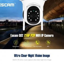 Безжична IP камера за видеонаблюдение ESCAM G02 720P