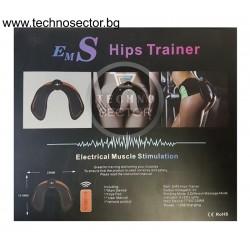 Електростимулатор SIAPRO за стягане и оформяне на седалищните мускули, EMS Hips Trainer, с дистанционно