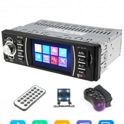 Авто MP5 плеър модел 3615B, 1DIN, Дисплей 4 инча, Bluetooth, с камера и дистанционно за волана