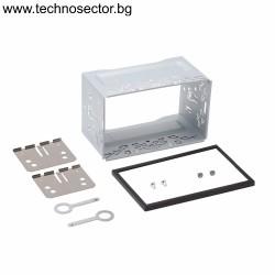 Универсална шейна/кожух с адаптерна рамка, планки и винтове за 2 DIN мултимедии