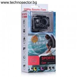 Екшън камера GoPlus, модел SP1080p, водоустойчива, HD, аксесоари, пълен комплект