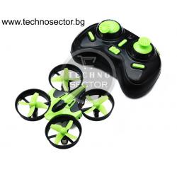 Mини дрон F36 Mini RC, 3D акробатика, 4 резервни перки, Зелен