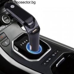 FM Трансмитер за автомобил с Bluetooth, Handsfree, MP3 Плейър, зарядна за кола, дигитален дисплей
