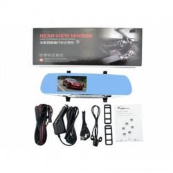 Видеорегистратор BlackBox, вграден в огледало с допълнителна камера за задно виждане, Full HD, Черен