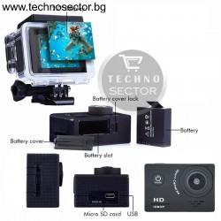 Спортна екшън камера OEM, 12 MP /1920 x 1080/, Full HD, 1080P, 30FPS
