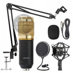 Универсален кондензаторен студио микрофон Trusiner - Пълен комплект
