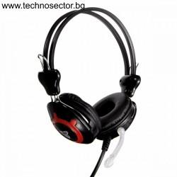 Геймърски слушалки с микрофон, FanTech Clink HG2, Черен