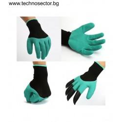 Градинарски ръкавици Garden Genie Gloves, Комплект 2 бр., с нокти, Черно/Зелени
