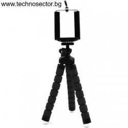 Мини гъвкав трипод за смартфон и фотоапарат, с гъвкави крака - Топ цена от Technosector.bg