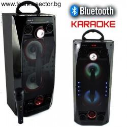 Преносима караоке колона Viva QS-36 с Bluetooth, микрофон, система с караоке функция и цветно осветление